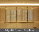 Etched Glass - Donor Recognition